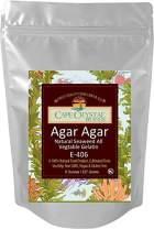 Agar Agar Powder | Vegan Gelatin Dietary Fiber Supplement - Vegan Unflavored (K) Kosher (8-Oz)