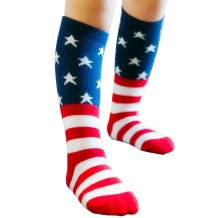 USA Flag Kids Socks Star Socks Knee High Sock for Boys Girls Baby Toddler Child