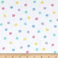 A.E. Nathan Comfy Flannel Stars Pastel Fabric By The Yard