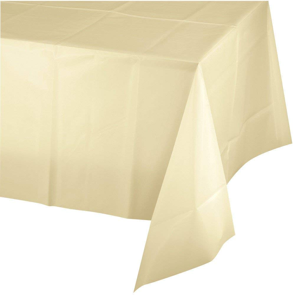 Blue Mountclear 12-Pack Disposable Plastic Tablecloths 54 x 108 Inch Size Table Cover