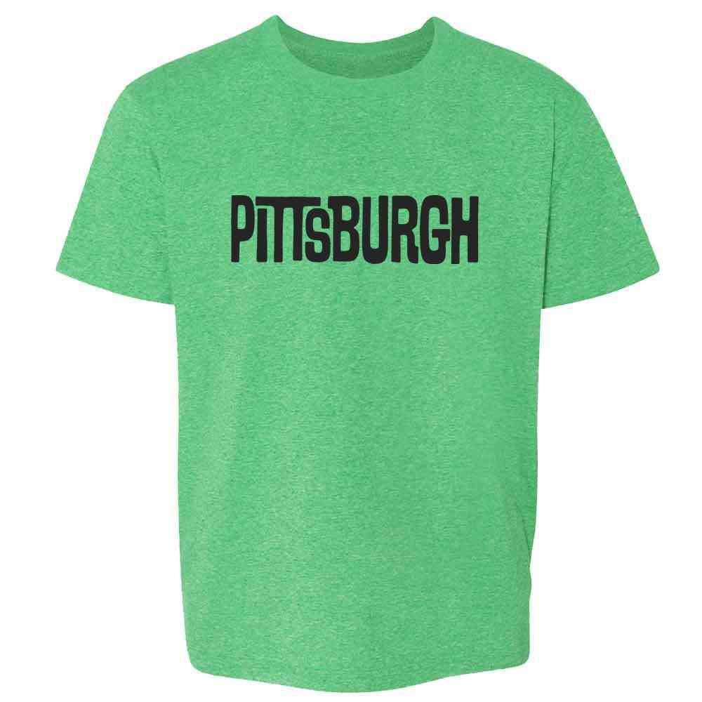 Pittsburgh Retro Vintage Travel Toddler Kids Girl Boy T-Shirt