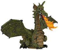 Winged Dragon with Fire (Winged Blue or Green Dragon; Colors may vary)