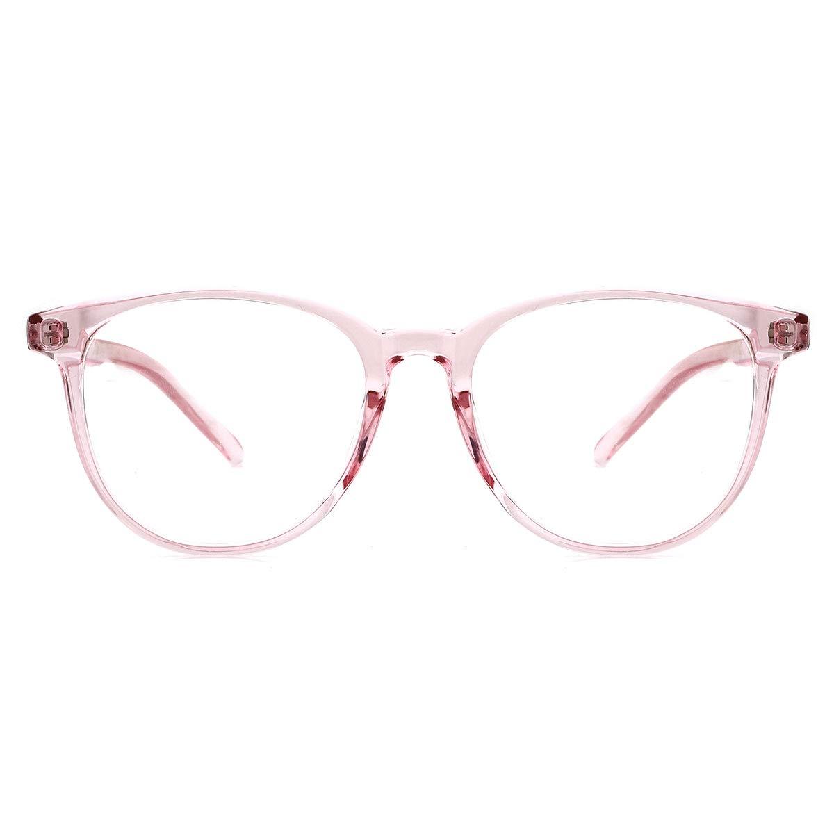 O-Q CLUB Vintage Round Blue Light Blocking Glasses Redue Eyestrain Computer Glasses for Women Men