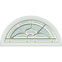 "ODL Nouveau Door Glass - 24"" x 12"" Frame Kit, Brass Caming"