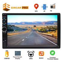 2 Din Car Radio 7 inch Touch Screen Car Stereo with GPS Navigation Bluetooth Head Unit Double Din FM Radio Receiver MP5 Player Support Screen Mirror&Steering Wheeling Control USB TF Card