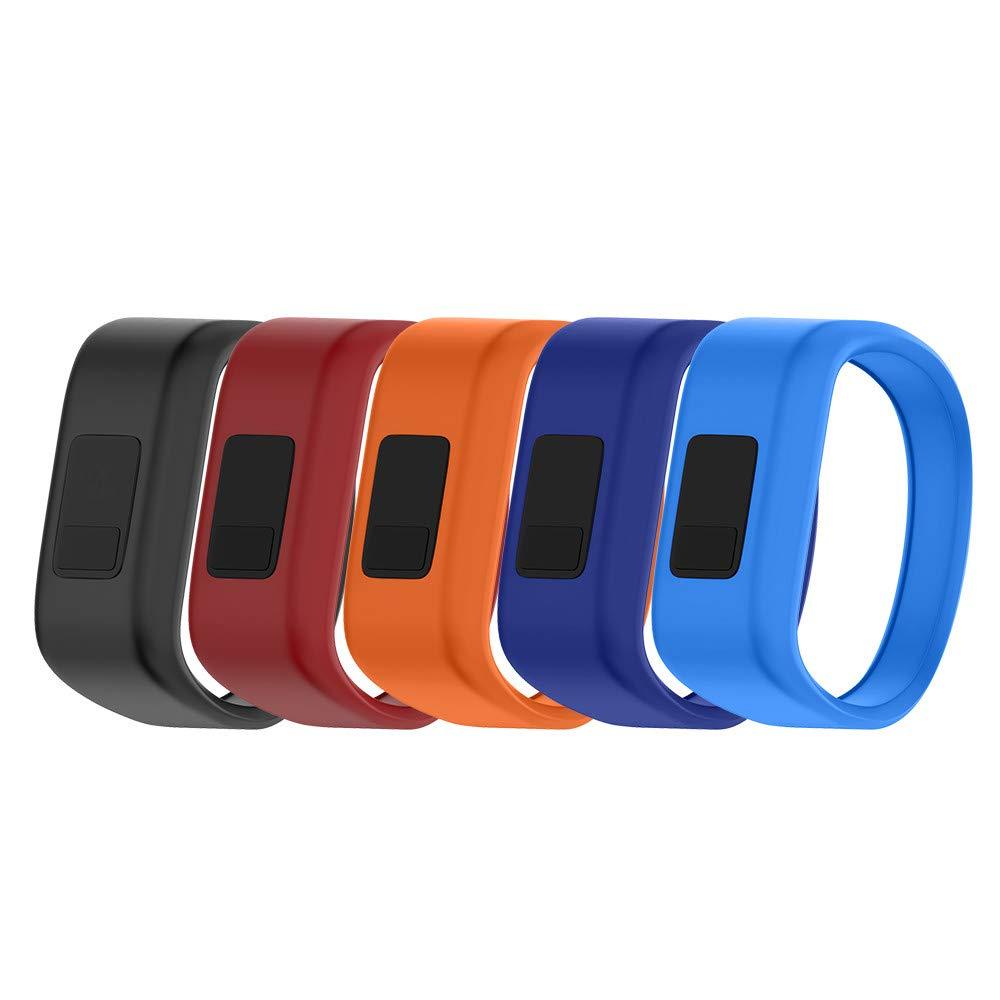 NotoCity Compatible Vivofit JR Watch Band Soft Silicone Replacement Bands for Vivofit JR/Vivofit JR 2/Vivofit 3 Smartwatch (5pcs, Small)