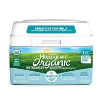 Happy Baby Organic Stage 1 Infant Formula Sensitive, 21 Ounce Organic Formula Dual Prebiotics, Milk Based Powder, Non-GMO (Packaging May Vary)