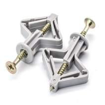 Drywall Anchor Kit - Drywall and Hollow-Wall Anchor Assortment Kit, Anchors, Screws, Wall Anchor Hooks, and Hollow-Door Toggle Anchor for Drywall,Anchors (50PCS)