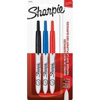 Sharpie Retractable Ultra Fine Point Permanent Markers, 3 Colored Markers(1735794)