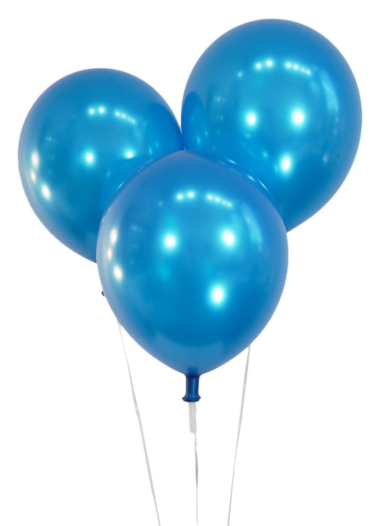 """Creative Balloons 12"""" Latex Balloons - Pack of 100 Pieces - Metallic Blue"""