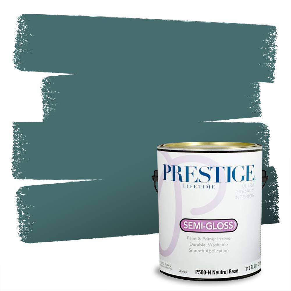 Prestige, Greens and Aquas 6 of 9, Interior Paint and Primer In One, 1-Gallon, Semi-Gloss, Regal