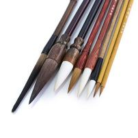 Hmayart MB029 Classic Brush Pen Set for Sumi-e Painting / 8 Brushes Plus 1 Bamboo Wrap