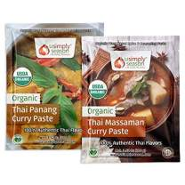 USimplySeason Organic Thai Curry Pastes (Panang & Massaman Spice Seasonings)
