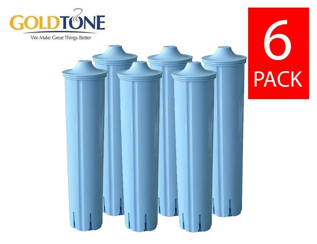 GoldTone Brand Charcoal Water Filter fits Jura Espresso Machine & Jura Capresso Coffee Maker. Replaces your Jura Clearyl Blue Water Filter - (6 PACK)