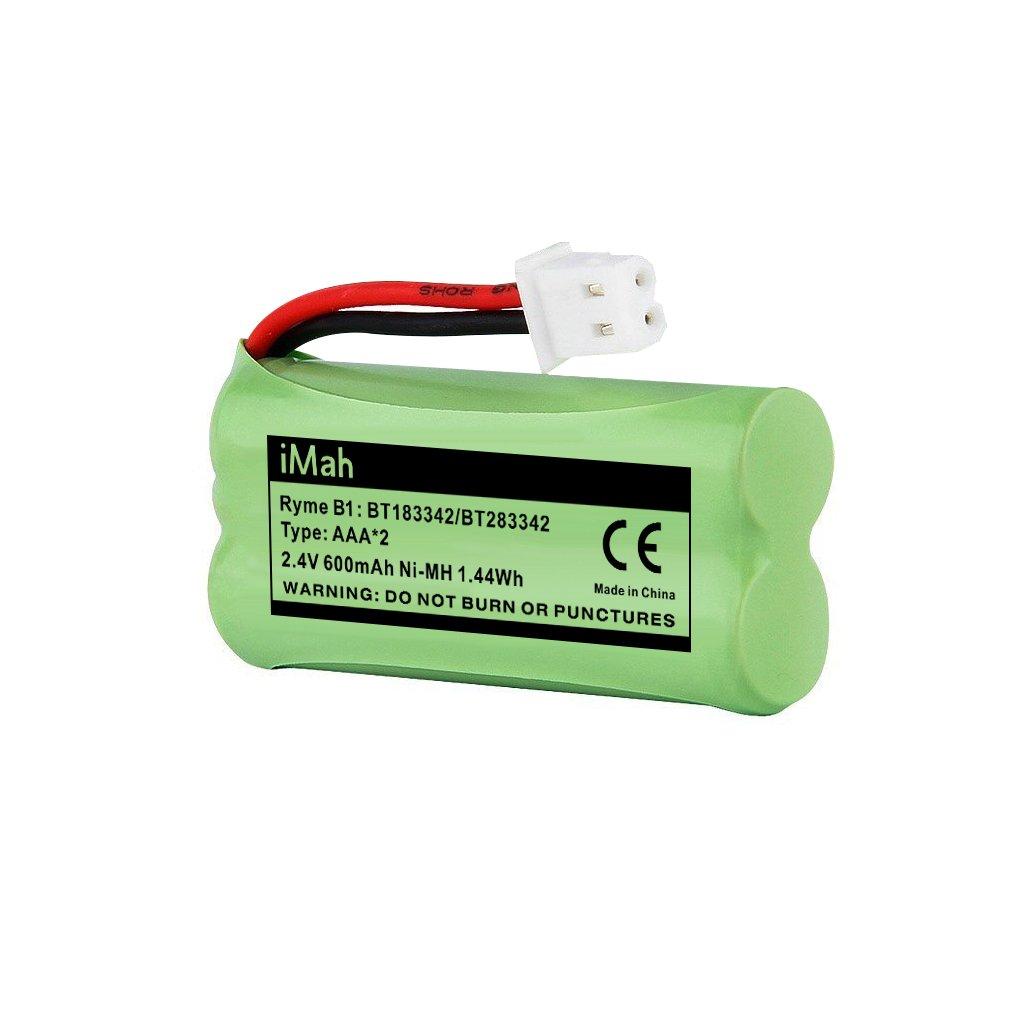 1-Pack iMah Ryme B1 BT183342 BT166342 BT162342 Battery Compatible with VTech CS6124 CS6419 CS6719 CS6829 AT&T EL52200 EL52300 CL80111 DECT 6.0 Cordless Handset Telephone