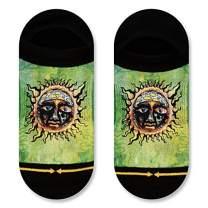 Sublime Sun Adult Men's Unisex No Show Lite Green Music Band Sock