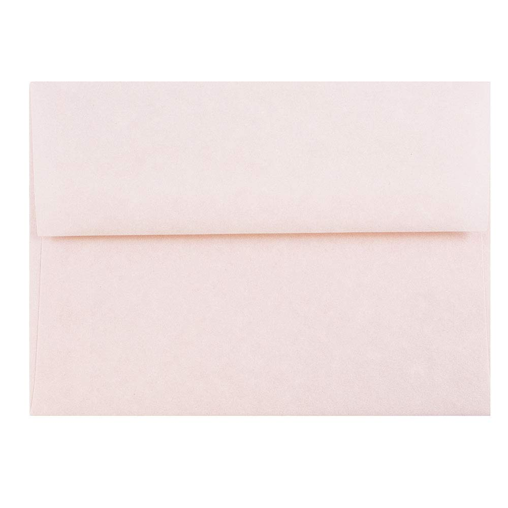 JAM PAPER A6 Parchment Invitation Envelopes - 4 3/4 x 6 1/2 - Pink Recycled - 50/Pack