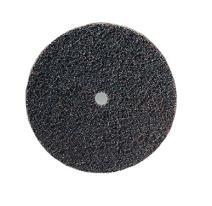 "CS Unitec 80650 FIX Fleece (Nonwoven) Disc for The FIX Hook and Loop System, 6"" Diameter, Coarse (Brown) (Pack of 10)"