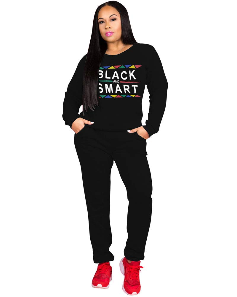 Ekaliy Women Casual 2 Piece Outfits - Sexy Jumpsuits with Hoodies Long Pant Rompers Black by Popular Demand