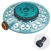 Sprout 65101-AMZ Metal 8-Pattern Sprinkler and QuickConnect Product Adapter Amazon Bundle, Gooseberry Green