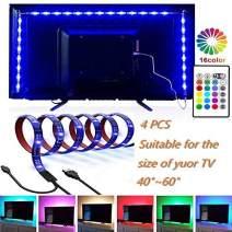 CINLITEK LED Strip Lights, LED TV Backlight 6.56ft for 40-60in Television USB TV Backlight Kit with Remote, 16 Color 5050, HDTV Bias Lamp, Waterproof Bias Lighting Led Light Strip for TV Desktop PC