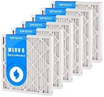 SpiroPure 27x29x2 MERV 8 Pleated Filter Air Filters - Made in USA (6 Pack)