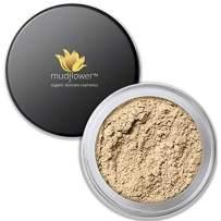 Mudflower Cosmetics Organic Powder Makeup Foundation, Fair, 1.0 ounce