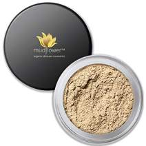 Mudflower Cosmetics Organic Powder Makeup Foundation, Fair, 1.0 ounce