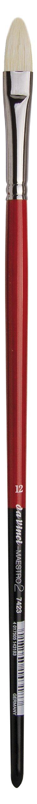 da Vinci Hog Bristle Series 7423 Maestro 2 Artist Paint Brush, Filbert with European Sizing, Size 12