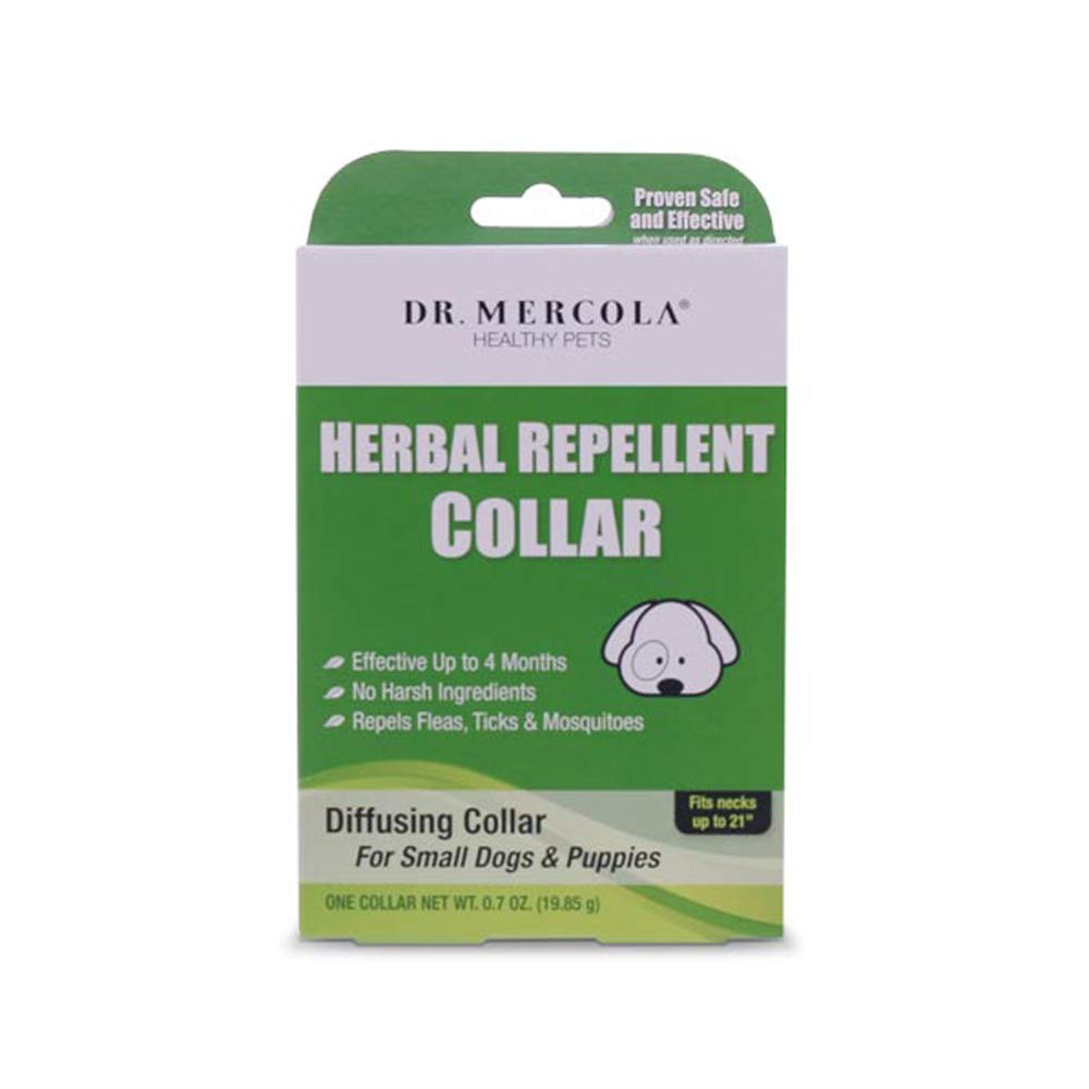 """Dr. Mercola Herbal Repellent Collar for Small Dogs Puppies (Fits Necks up to 21"""")"""
