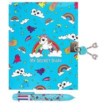 GirlZone: Unicorn Secret Lockable Kids Journal for Girls & Pen Set, Great Birthday Gift for Girls