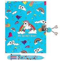 GirlZone: Unicorn Secret Lockable Kids Journal for Girls & Pen Set, Great Birthday Gift for Girls
