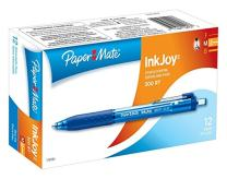 Paper Mate InkJoy 300RT Retractable Ballpoint Pens, Medium Point, Blue, 12-Count
