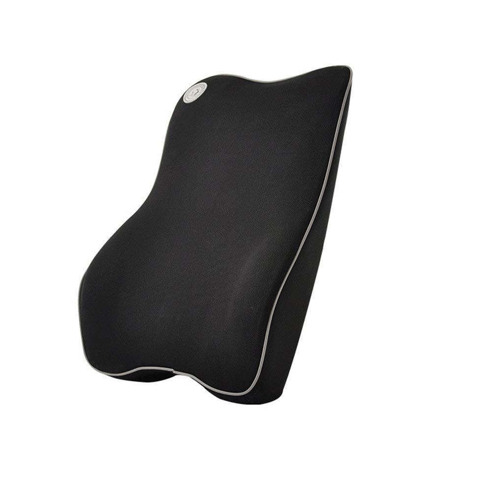 Ecloud Shop Lumbar Support Cushion Premium Memory Foam for Car - Ergonomically Design Universal Fit Major Car Seat - Black