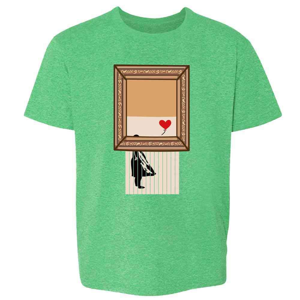 Shredded Banksy Girl with Balloon Funny Art Toddler Kids Girl Boy T-Shirt
