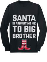 Santa is Promoting Me to Big Brother Christmas Toddler/Kids Long Sleeve T-Shirt