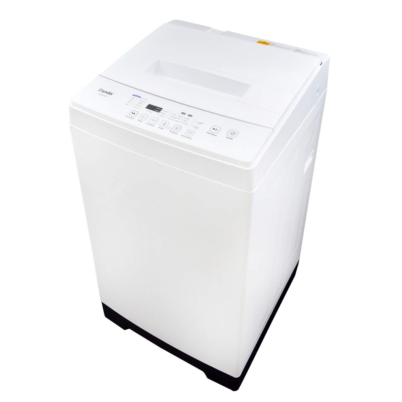 Panda PAN50SWF2 1.60cu.ft Compact Washer, High-End Fully Automatic Portable Washing Machine, 11lbs Capacity, Folding Window, White