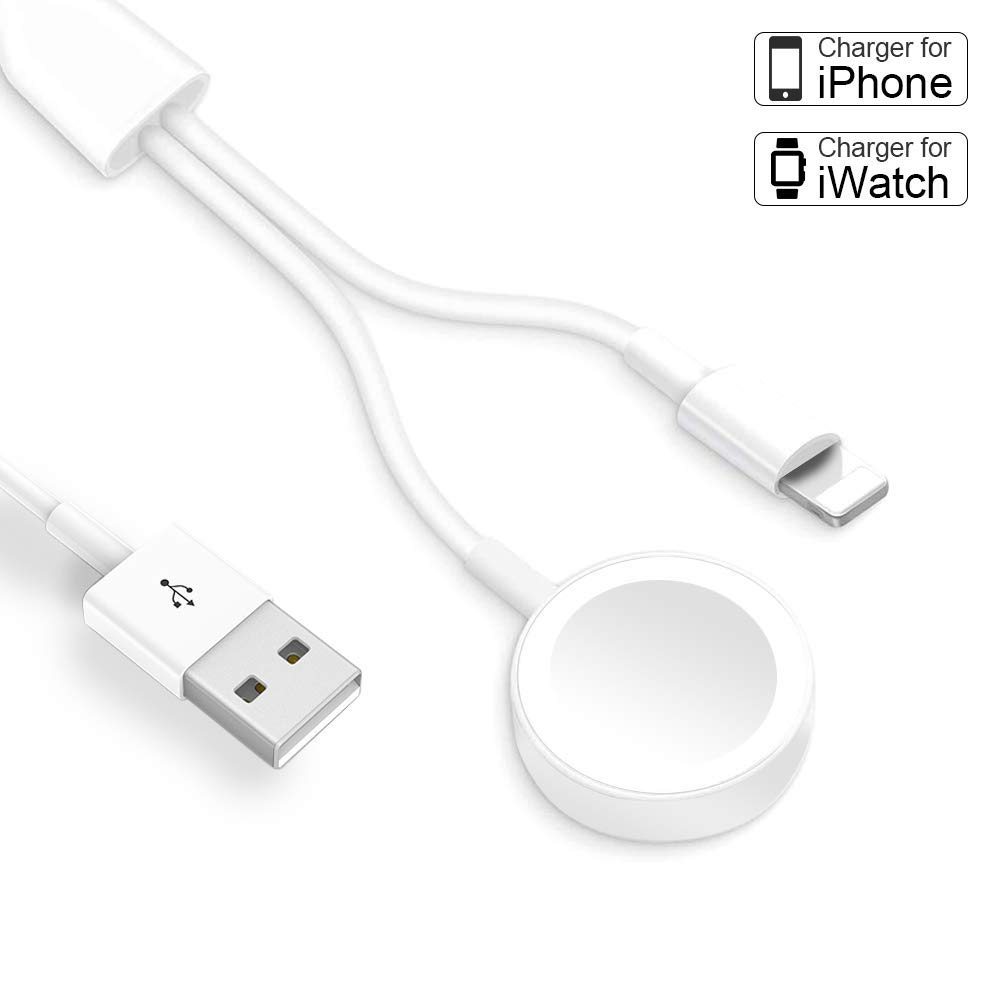 Compatible with iWatch Charger & iPhone Watch Charger {Update Version}, 2 in 1 Wireless Portable Watch Phone Charger Cable for Apple Watch Series 5/4/3/2/1 and iPhone 11/11 Pro/Max/XR/XS/iPad Series