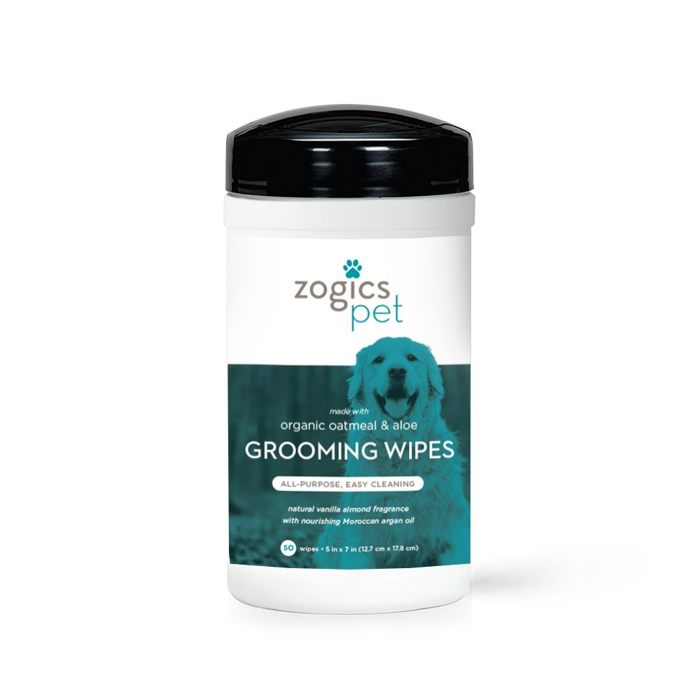 Zogics Pet Multi-Purpose Dog Grooming Wipes with Organic Oatmeal & Aloe - Thick, Hypoallergenic Wipes for Spot Cleaning and Between Baths