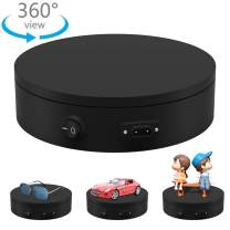Motorized Photography Turntable, Automatic Revolving Platform Perfect for 360 Degree Images,Professional for Shop Display Stand,Product Display or Cake Display,55lb Load Dia 7.8inch- Black