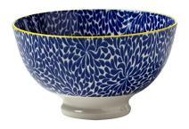 Torre & Tagus 910549U Blue Iris Kiri Porcelain 6-Inch Medium Bowl