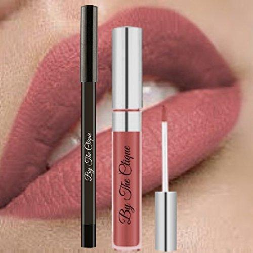 "Premium Long Lasting Matte Lip Kit |""Beach Babe"" Ultra Wear Nude Cliquestick Lipstick and Liner Pencil Set"