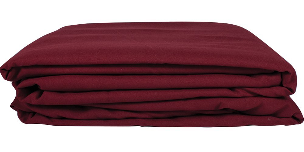 Premium Microfiber 3 Piece Massage Sheet Set by NRG - Includes Massage Table Flat Sheet, Fitted Sheet and Face Rest Cover - 100% Double Brushed Polyester, Soft as Silk - 120 GSM - Color: Merlot