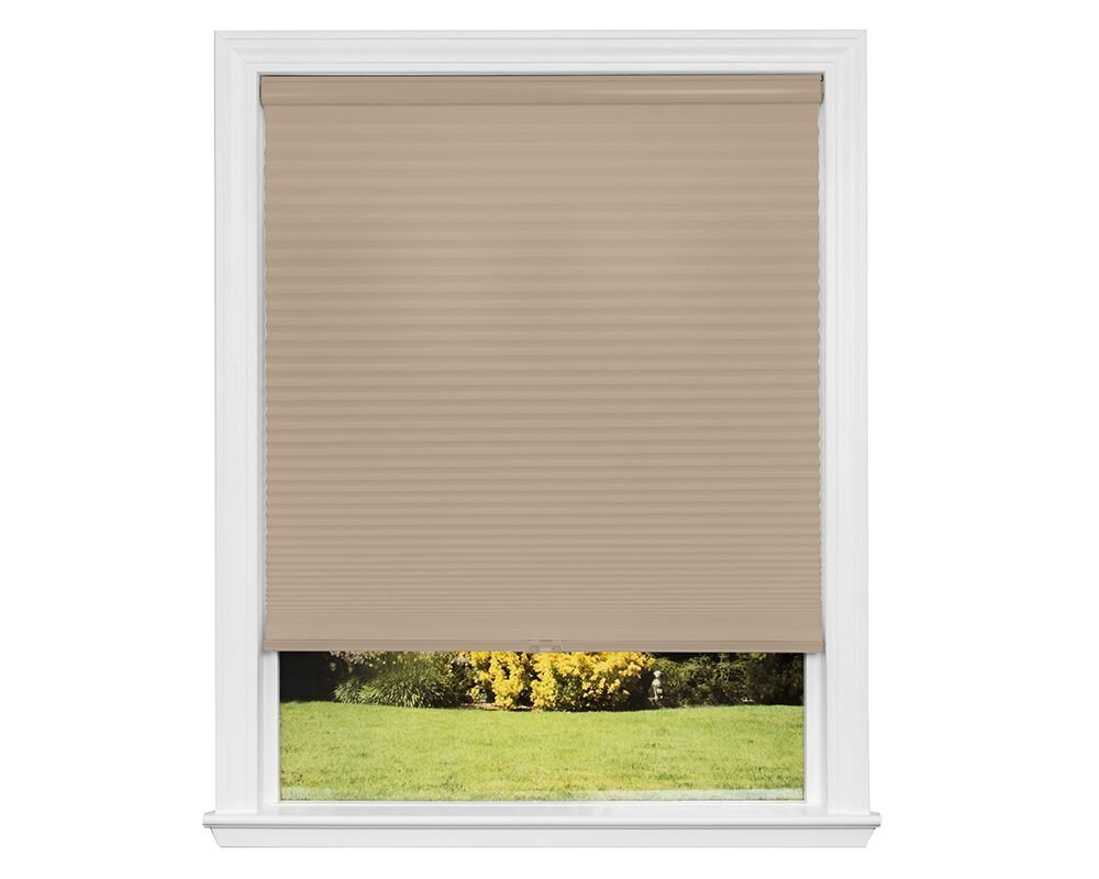 Redi Shade Z00C3261420 Simple Fit Made to Custom Width Cordless Honeycomb Cellular Shade, Khaki