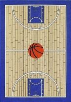 """Furnish my Place 695 Blue 3x5 Basketball Court Kids Area Rug, 3'3""""x5'"""