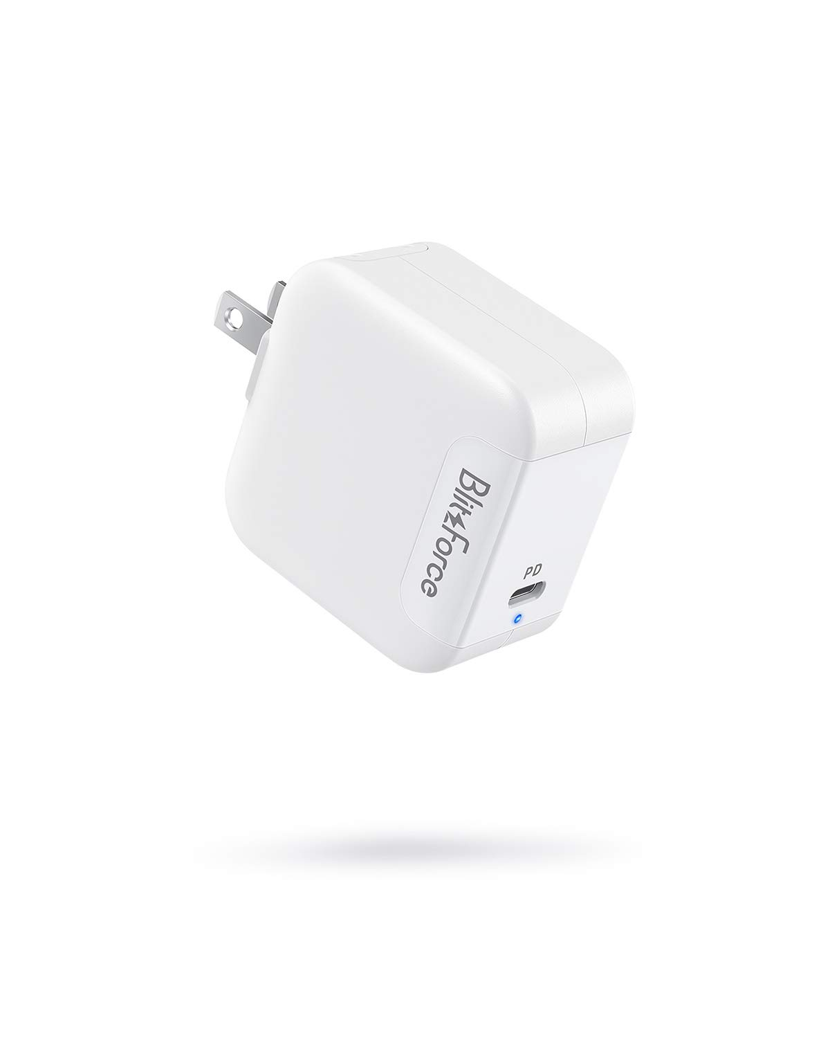 USB C Charger[GaN Tech],Blitzforce 65W PD 3.0 Wall Charger Type C Fast Charging Power Delivery Foldable Adapter for iPhone 11/Pro/Max, MacBook Pro/Air, Ipad Pro and More (White)