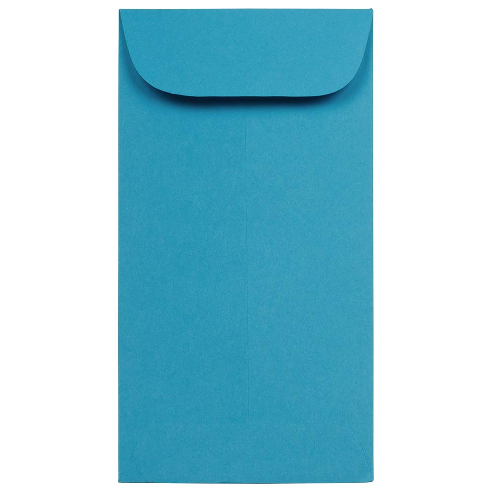JAM PAPER #7 Coin Business Colored Envelopes - 3 1/2 x 6 1/2 - Blue Recycled - 25/Pack