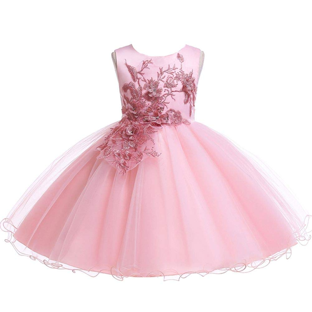 Flofallzique Baby Girls Tutu Dress Toddler Birthday Dress Tulle Wedding Party Sundress