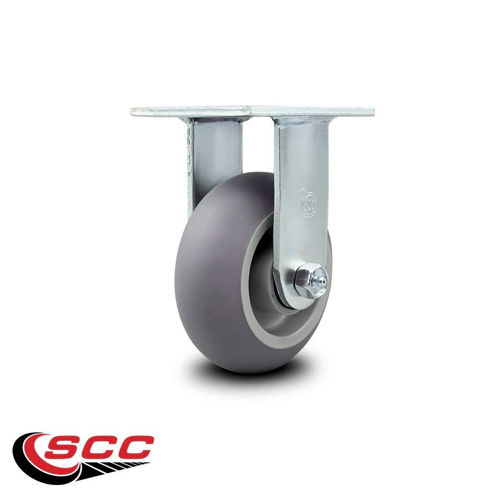"Service Caster - 5"" x 2"" Thermoplastic Rubber Wheel Rigid Caster - 350lbs/Caster"