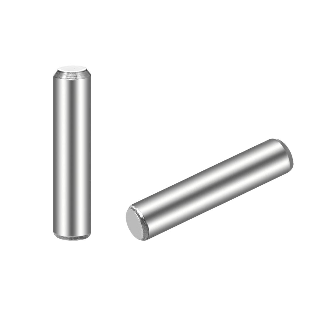 """uxcell 3 x 14mm(Approx 1/8"""") Dowel Pin 304 Stainless Steel Wood Bunk Bed Dowel Pins Shelf Pegs Support Shelves 25Pcs"""